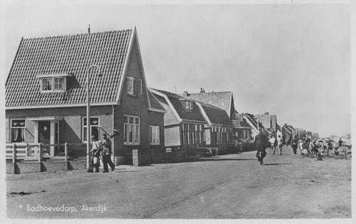 Akerdijk 03__ 1948 Einde Akerdijk bij Kruising Sloterweg