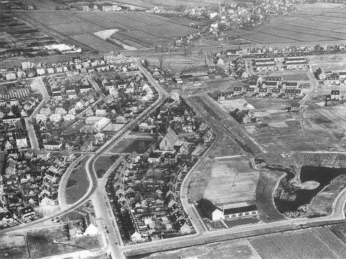 Badhoevedorp 1948 Luchtfoto Burg Amersfoordtlaan_3