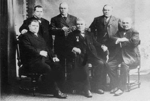 Biesheuvel Barend 1832 1915 met zijn Zonen