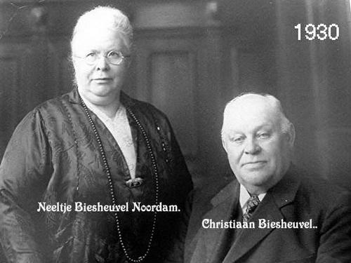 Biesheuvel Christiaan 1864 1930 Portret met vrouw Neeltje Noodam