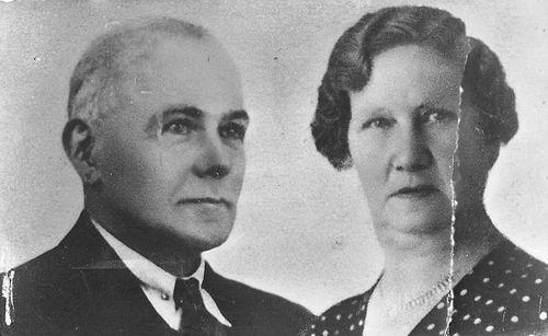 Boer Jan L de 1875 19__ Portret met vrouw Maria v Dam