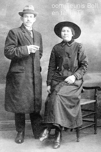 Boll Teunis 1896 192_ met vrouw Mathilde Vaandering