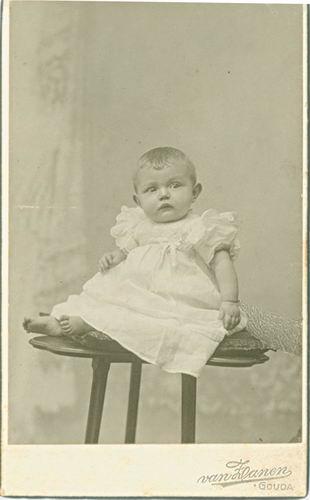 <b>ZOEKPLAATJE:</b>Bos Onbekend Portret Kind bij v Zanen in Gouda