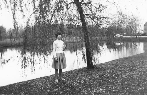 Boslaan 0000 Wandelpark 1960 met Ina v Rijswijk 01