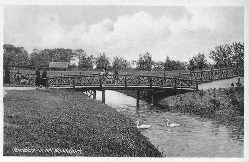 Boslaan Wandelpark 1939 02 Tekst in foto