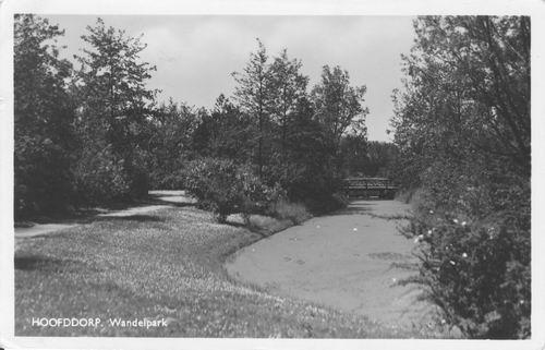 Boslaan Wandelpark 1951 Achtersloot