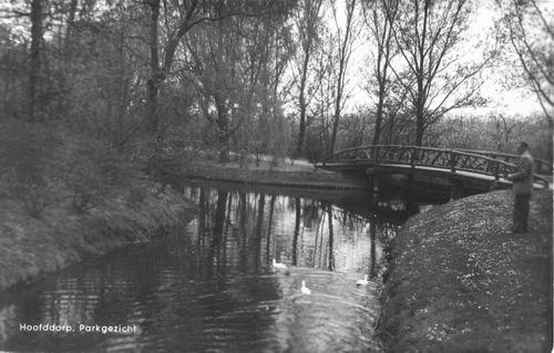 Boslaan Wandelpark 1955 Voorsloot in 1966 uitvoering