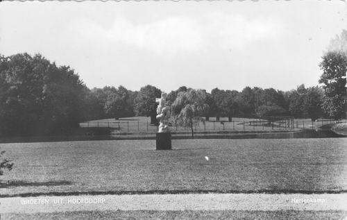 Boslaan 0000 Wandelpark 1959 Beeld Jacob en de Engel