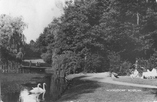 Boslaan Wandelpark 1968 Middenvijver