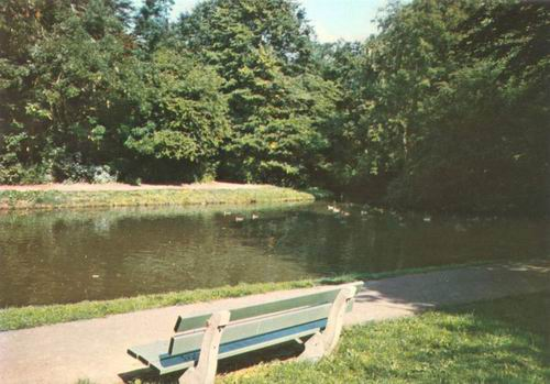Boslaan Wandelpark 1975 Middenvijver kleur 04