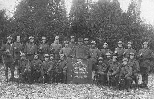 <b>ZOEKPLAATJE:</b>Breure Onbekend 1918 Militairen Paleis-Wacht 384