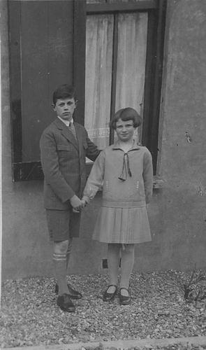 Bulk Jan Dirk 1918 192_ met zusje Grietje