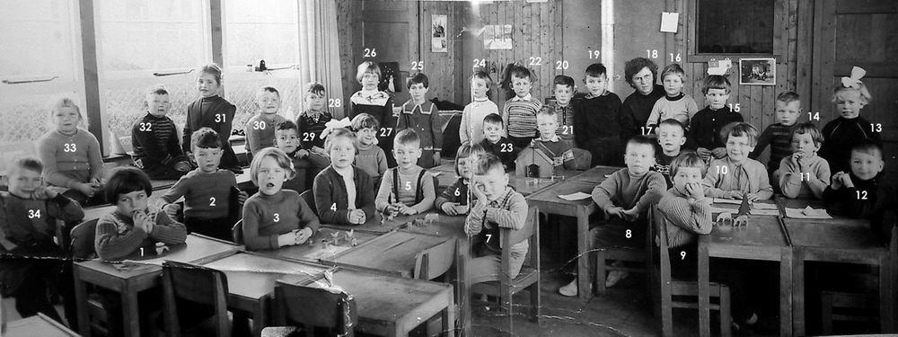 Christelijke Kleuterschool Hoofddorp 1955 met Klaas Filius
