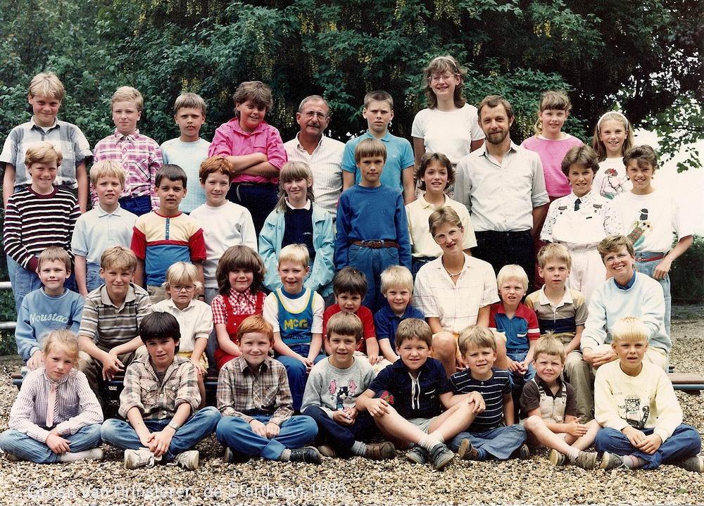 Christelijke School Rijk Aalsmeerderweg 1985 Laatste Groepen Groen v Prinsterenschool