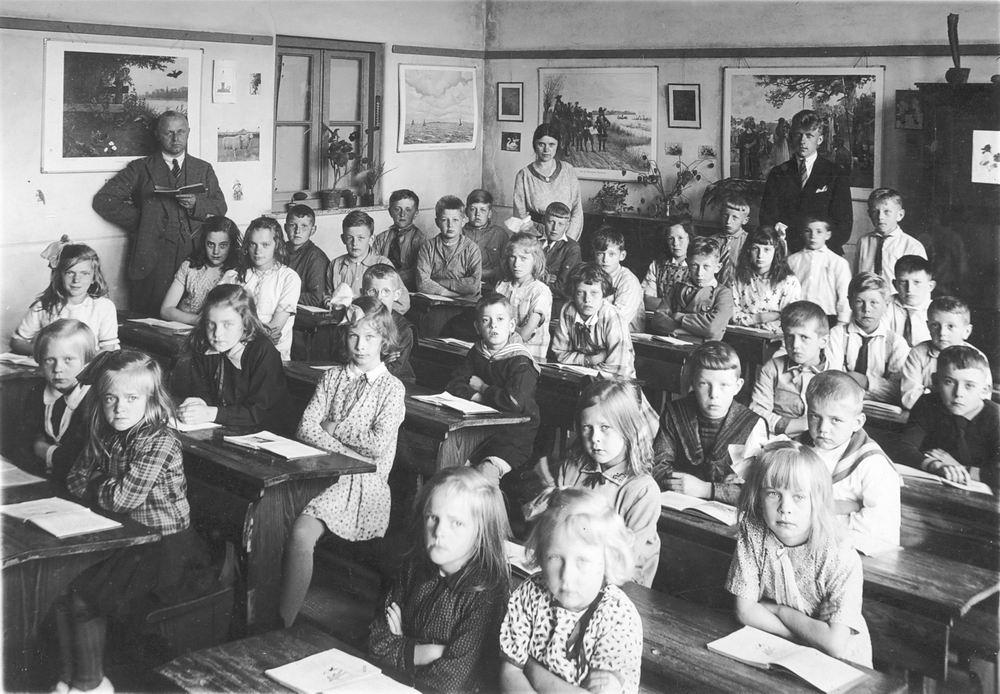 Christelijke School Abbenes 1931 Klas