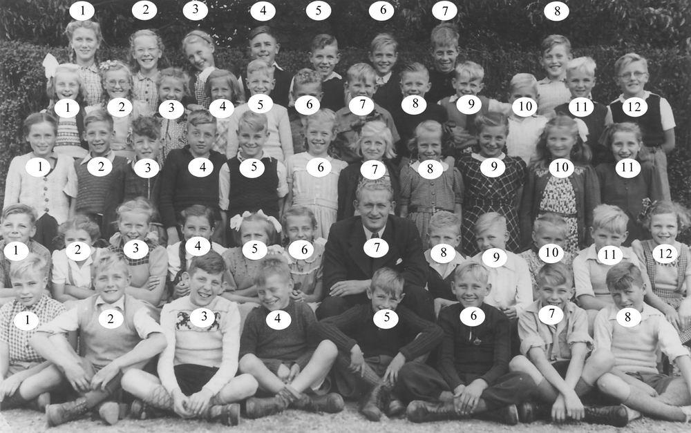 Christelijke School Hoofddorp 1950 klas 5_Index