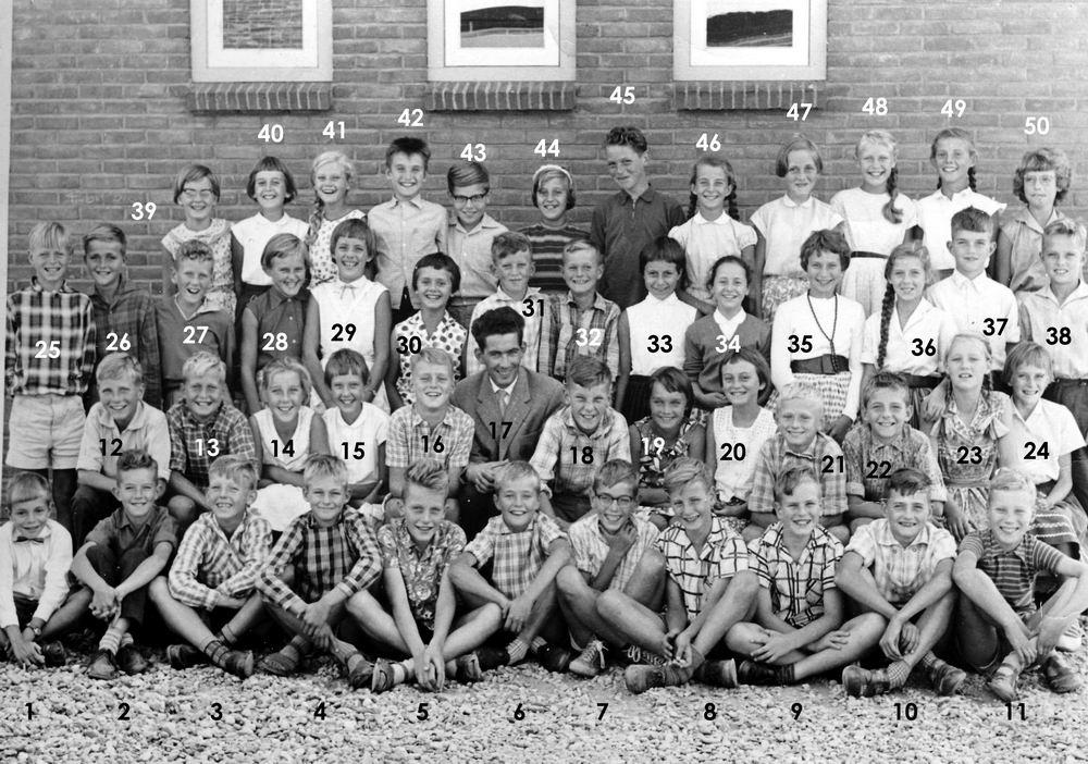 Christelijke School Hoofddorp 1959-60 Klas 6 met Mr Meijer_Index