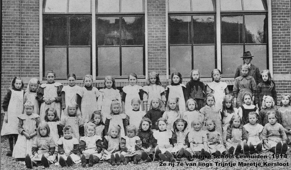 Christelijke School Leimuiden 191_ Klassefoto met Trijntje M Kersloot