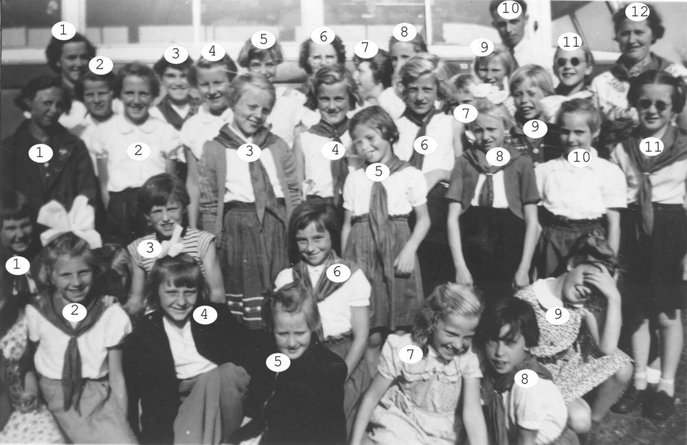 Kabouterclub Rijk 1951-52 met Jufs v Keulen_Index