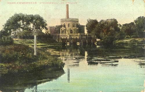 Cruquiusdijk 0027 1903 Stoomgemaal ingekleurd