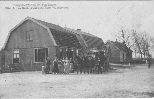 Cruquiusdijk 0230 1908 Stoombootstation Vijfhuizen