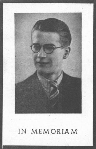Dijkers Wilhelmus Catharinus 1923 1944 Bidprentje_Portret
