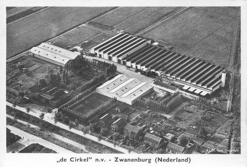 Domineeslaan Stalen Meubelfabriek de Cirkel Luchtfoto 1969 01