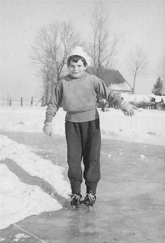 Es Ingrid v 1957 Schaatsen op Ringvaart Lijnderdijk