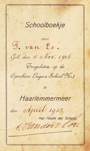 Es Teunis v 1906 1913 Rapportboekje 01