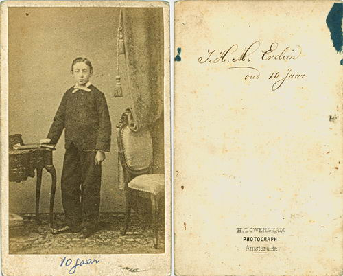 Evelein Johan H M 1848 1858 bij Fotograaf Lowenstam