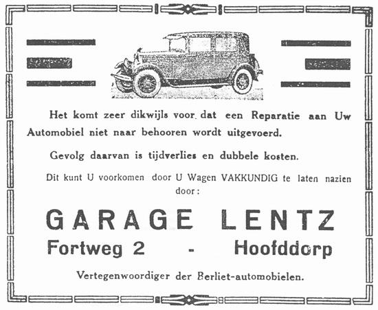 Fortweg 0002 19280428 Garage Lentz
