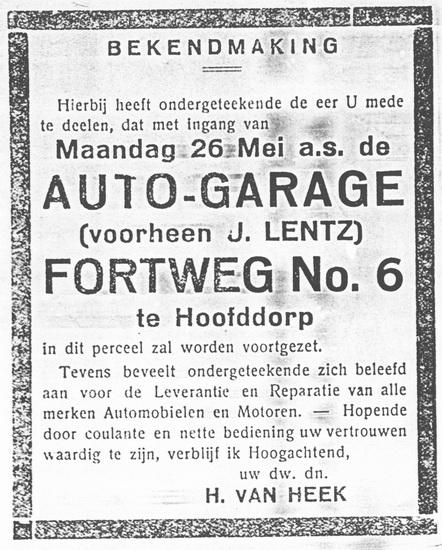 Fortweg 0006 1930 Autogarage v Heek vh Lentz