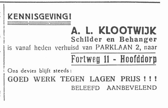 Fortweg 0011 1937 Schilder Klootwijk vanaf Parklaan