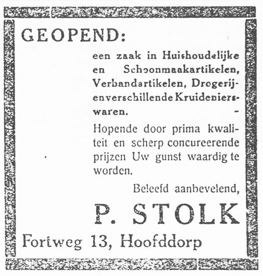 Fortweg 0013 1931 Kruidenier P Stolk