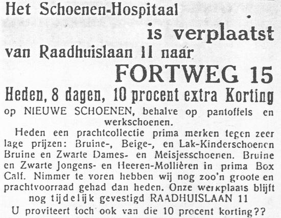Fortweg 0017 1930 Schoenenhospitaal vanaf Raadhuislaan 11