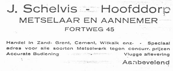 Fortweg 0047 1924 Aannemer J Schelvis