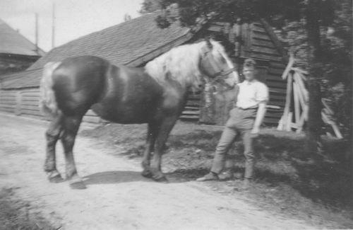 Geertzema Galtjo J J 1911 193_ met Paard bij de President