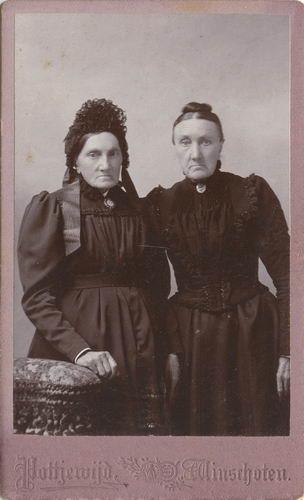 Geertzema Galtjo J J 1833 19__ Vrouw C A Melchior met Zus Johanna M