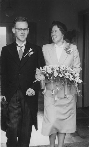 Meijerman Gerrit C 1952 trouwt Martje A Smit
