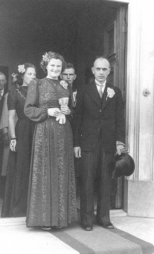 Geertzema Willebrordes 1917 19__ met vrouw Grie Bulk