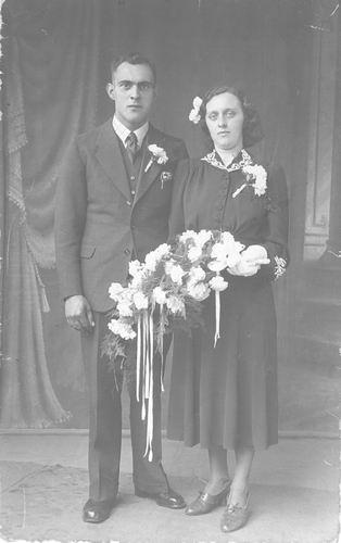 Groef Gerrit vd 1942 trouwt Hendrika Elshout