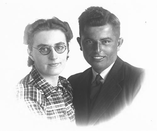Groot Jo C de 19__ portret met vrouw Rie de Vlieger