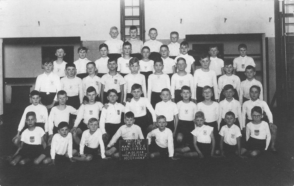 Gym en Athletiek Ver Hoofddorp 1943 Hulde aan C A de Boer