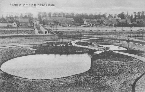 Haeringenplantsoen 1918 met zicht in Venneperstraat