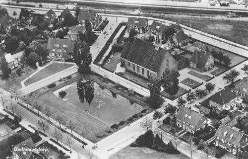 Havikstraat 0005 1958 Geref Kerk Luchtfoto