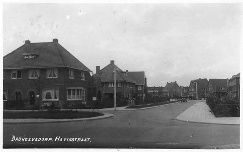 Havikstraat 1939 vanaf de Burgemeester Amersfoordtlaan