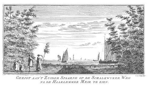 Hmeer 1763 Zicht vanaf Zuider Spaarne Schalkwijkerweg