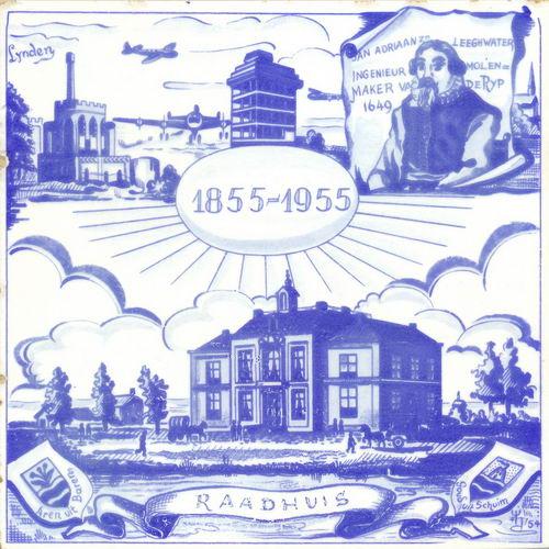 Hmeer 1955 100jr Gemeente Jubileumtegel
