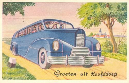 Hoofddorp Groeten uit 1950 Blauwe Bus