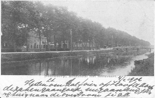 Hoofdweg O 0696 1905 Wapens v Hmeer en Kruiswegbrug